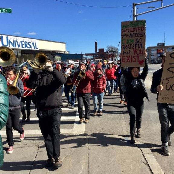 ICE protest (photo by Nicole Eigbrett)